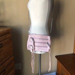 Rebecca Minkoff Light Pink Leather Crossbody Bag